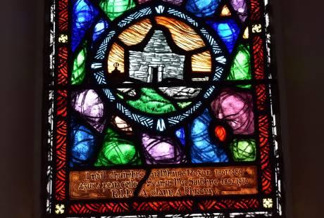 Henry Clark stained glass windows on Inishmaan aran islands
