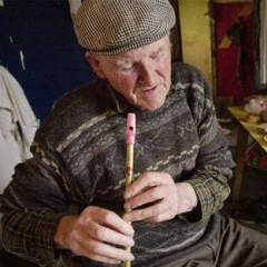 Russell Memorial Weekend playing the tin whistle in Doolin