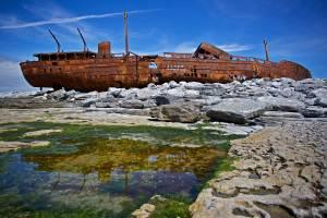The Plassey Shipwreck on Inisheer Aran Islands